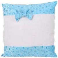 Sublimation Square Soft Plush Pillowcase light blue, 40x40 cm.