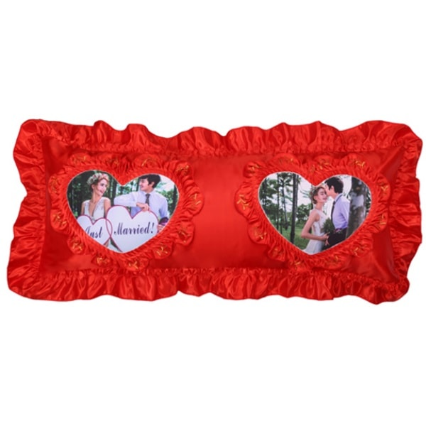 Sublimation Two Hearts Pillowcase, 108x52 cm.