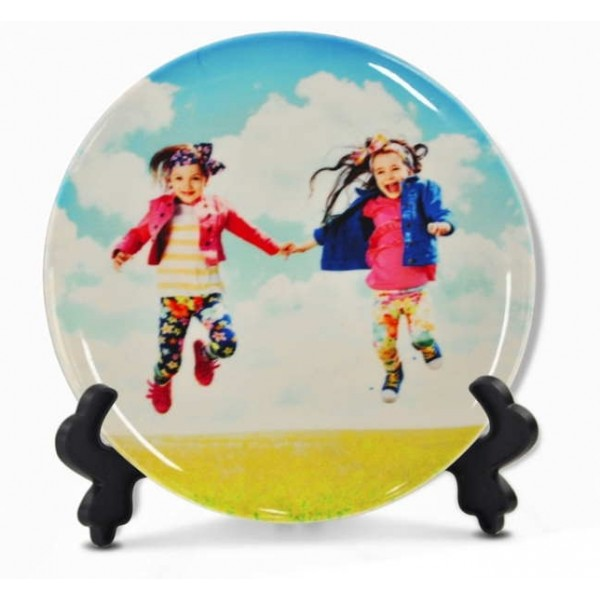 "10"" Sublimation White Round Ceramic Plate, 25.4 cm."
