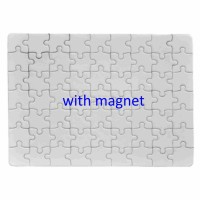 Sublimation Jigsaw Puzzle With Magnet, 13x18cm, 63pcs.