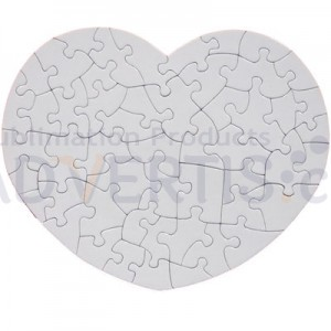 Sublimation Jigsaw Heart Shaped Puzzle, 20x24сm.