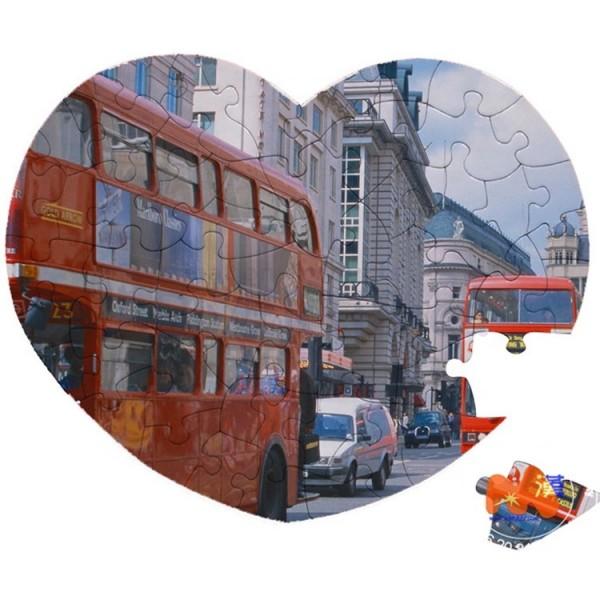 Sublimation Heart Shaped Jigsaw Puzzle, 20x24сm, 52 pcs.