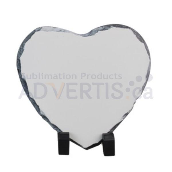 Sublimation Heart Photo Slate Rock Stone, 15 cm.
